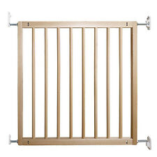 Safety Safe Stair Gate Baby Infant Guard Child Dog Care Extending Wooden Door