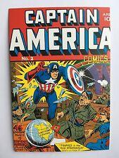 CARTE POSTALE POSTCARD MARVEL COMICS CAPTAIN AMERICA WAR WWII