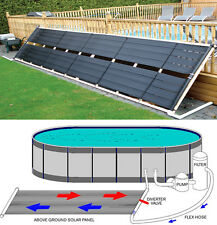 "48"" x 20' Inground / Above Ground Pool Solar Panel Pool Heater 80 Sq Ft 4'"