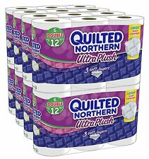 Quilted Northern Ultra Plush Bath Tissue 48 Double Rolls Toilet Paper Bulk Lot
