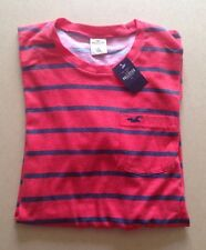 HOLLISTER Guys T Shirt Size S BNWT Red & Navy Stripe