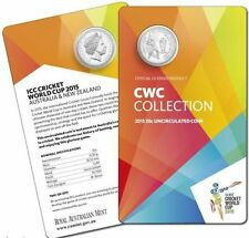 AUSTRALIA, ICC CRICKET WORLD CUP 2015, OFFICIAL COIN UNC