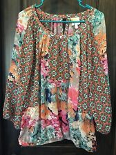 Women's Top, L Large, Fig And Flower Brand, Spring Colors, Floral, NWT