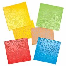 4 Floral & Geometrical Pattern Rubbing Plates to Create Decorate Embellish Craft