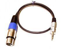 Roxdon 0,5 M Microfono Lead XLR a 3.5 mm Mini Jack da