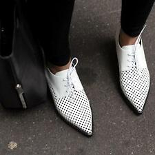 STELLA Mccartney Bianco Oxford Brogues Shoes Scarpe Basse uk6/eu39