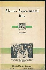 Electro Experimental Kits 1936 1930S Vtg Brochure Ad Electrical Science Catalog