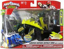 POWER RANGERS DINO SUPER CHARGE GREEN ANKYLO ZORD ACTION FIGURE WITH CHARGER