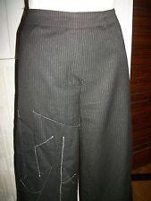 Pantalon habillé polyester/viscose noir rayé LAUREN VIDAL T.M 42/44 16VH31