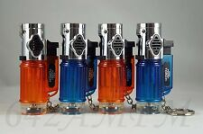 4 Triple Jet Torch Flame Windproof Butane Refillable Lighters