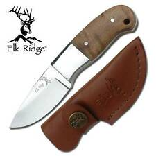 Elk Ridge Mini Burlwood Hunter Hunting Knife Fixed Blade Full Tang + Sheath 111