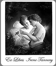 30 Personalized Ex Libris Bookplates With Vintage Angels Image Free Shiping