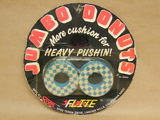 Vintage NOS Old School BMX Bicycle Flite Checkered Jumbo Donuts // Blue & White