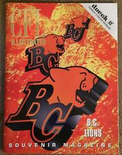 Rare CFL Football 1995 Program With Insert BC Lions Vs. Ottawa Rough Riders