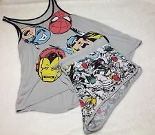 Marvel Heroes Women's Tank/Short Pajama Set Plus Size 3X Iron Man Spiderman NWT