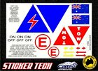 CAMS APPROVED RACE DRIFT RALLY CAR STICKER DECAL SET
