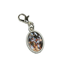 Jigsaw Puzzle Pieces - Jig Saw Game Hobby - Oval Charm w/ Lobster Clasp