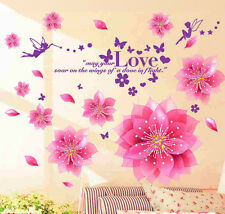 Wall Stickers Wall Decals Dreamy Pink Flowers Blowing
