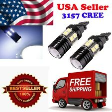2 x 3157 3057 Back Up Reverse Project Cree + 12-SMD LED Light Bulb White 6000K