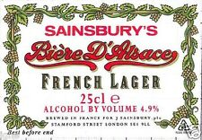 FRANCE - Sainsbury's - Biere d'Alsace French Lager 25cl - beer label C1465