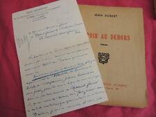 ESPOIR AU DEHORS Poèmes Jean Aubert + LAS de l'auteur entete VENT NOUVEAU