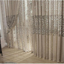 Upscale Floral Tulle Room Door Blackout Window Curtain Drape Panel Sheer Scarf