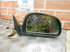 MITSUBISHI LANCER MK5 1993 OS DRIVER SIDE MANUAL DOOR WING MIRROR BLACK PLASTIC