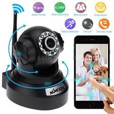 IP Cámara Video Vigilancia WiFi CMOS 2 Vías Audio Interior Seguridad Black 05UV