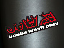 1 x Aufkleber Boobs Wash Only Sticker Autoaufkleber Fun Dub Gag Tuning OEM Turbo