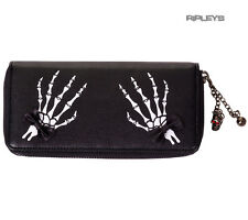 BANNED Clothing Black Wallet Purse   Bad Reputation Skeleton Hands Goth