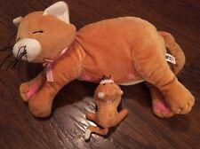 """Manhattan Toy Plush Mama Cat With 1 Kitten 10"""""""