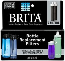 BRITA 2 Filters BOTTLE REPLACEMENT WATER FILTER Hard-Sided Soft-Sided New Sport