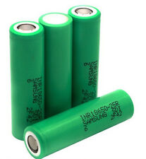 4 Authentic Samsung INR 18650 25R HIGH DRAIN 35A Battery 2500mAh (Green 25R6)