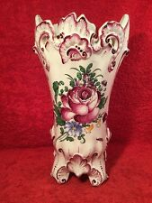 Antique French Faience Hand Painted Henri Chaumeil Vase c1890-1920, ff297