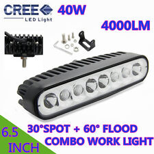 CREE 7INCH 40W LED WORK MOUNTING LIGHT BAR FLOOD SPOT OFFROAD DRIVING LAMP TRUCK