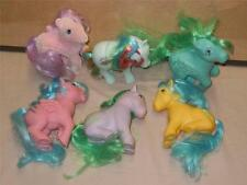 My Little Pony G1 Toy Figures 1983 lot of 6 Seashell, Firefly, Medley, Bubbles+