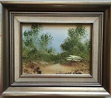 Jim Crofts(1922~)~Australian Listed Artist~original painting~Countryside Home~79