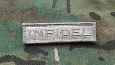 "INFIDEL Desert Tan Morale Patch 1""x3.5 multicam Navy Seals Devgru Atacs"