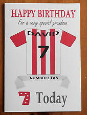 SOUTHAMPTON FAN Unofficial PERSONALISED Football Birthday Card (Red & White)