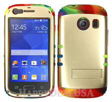 Hybrid Silicone Cover Case for Samsung Galaxy Ace Style S765c P RNB/Gold