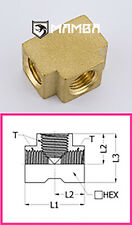 Brass Adapter Fitting Union Tee 1/8 BSP Female (50 pcs)