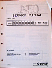 Yamaha JX50 Guitar Amplifier Original Service Manual, Schematics Parts List Book