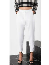 Finders Keepers White Underpass Dropped Crotch Pants Trousers  M NEW