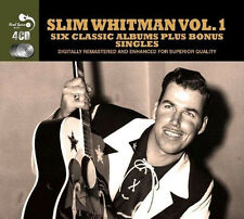 Slim Whitman SIX CLASSIC ALBUMS VOL 1 + SINGLES Country Favorites SINGS New 4 CD