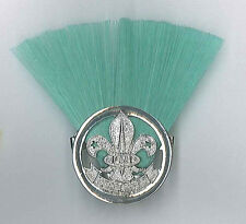 SCOUTS OF FIJI - SCOUT LEADER / MASTER (GREEN COLOUR) Metal Plume / Hat Patch