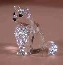 SWAROVSKI CRYSTAL CAT SITTING 160799 MINT BOXED RETIRED RARE