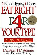 Eat Right 4 Your Type by Dr. Peter J. D'Adamo ~ For Blood Type Diet ~ Hardcover
