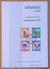 FDC Ersttagsblatt - Germania Bundespost 1976 - Youth Hostel - Sports