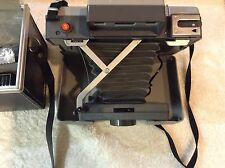 Vintage Polaroid Countdown 70 Camera W/ Case Film Timer Flash Manual Very Clean