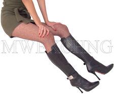 Cesare Paciotti Leather Stiletto Boots EU 38.5 Italian Designer Womens Shoes
